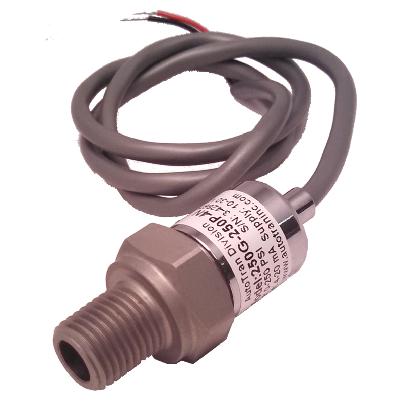 Series 250 Stainless Pressure Transducer  100, 250 or 500 PSI